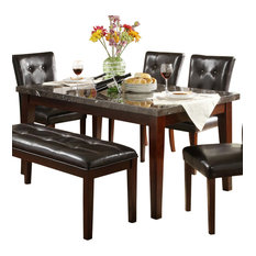 Homelegance Decatur Rectangular Dining Table With Marble Top