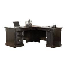 Sauder Avenue Eight Desk Wind Oak Desks And Hutches
