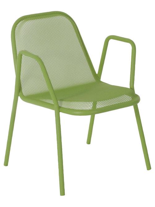 Golf Stol Med Armstöd, Grön - Udendørs spisebordsstole