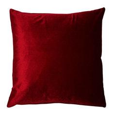 "Pillow Decor - Corona Velvet Throw Pillow, Red, 16""x16"""