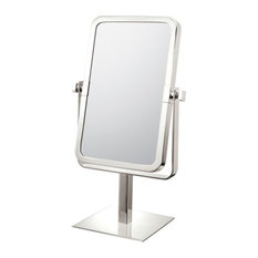 Aptations 7 7/8   Free Standing Double Sided Magnified Makeup in Brushed Nickel