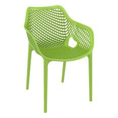 Air XL Outdoor Dining Arm Chair Tropical Green
