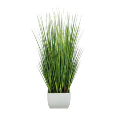 "Artificial 50"" Grass, Cream X-Large Rectangle Zinc"