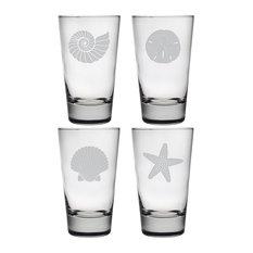 Beachcomber 4-Piece Highball Glass Set