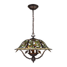 Latham 3-Light Chandelier, Tiffany Bronze With Highlights