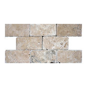 "Tumbled Tile, Tuscany Walnut, 10 Sq. ft., 3""x6"""