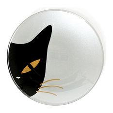 Cat Eye White Glass Dish