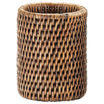 DWBA Bath Collection - DWBA Malacca Toothbrush Toothpaste Holder Bathroom Brushes Tumbler, Rattan - DWBA Malacca Toothbrush Toothpaste Holder Bathroom Brushes Tumbler - Rattan. Created to bring everlasting beauty; this beautiful toothbrush holder is designed to increase the level of elegance in your bathroom.