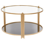 Statements by J - Sydney Round Coffee Table - 2 tiers round coffee table brings the glam and practicality yo your space.