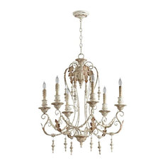 Cyan Design Lolina Six Light Chandelier, Persian White