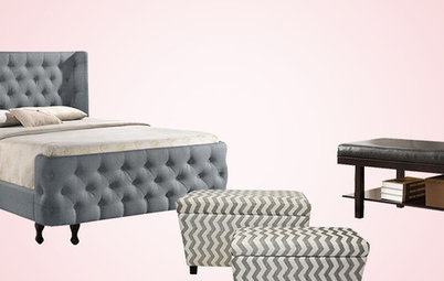 Shop Houzz: Up to 50% Off Upholstered Beds and Benches