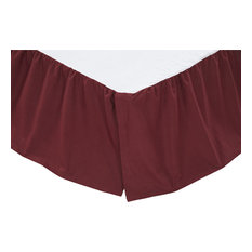 Solid Burgundy Bed Skirt, Queen