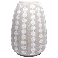 Ceramic Planter, Gray and White
