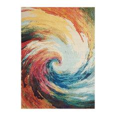 "Nourison Celestial Wave CES07 Multicolor 4x6 Area Rug, 5'3""x7'3"""