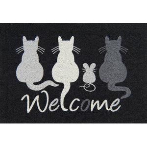 Clean Keeper Cats Welcome Doormat
