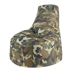 Core Covers   Durable Camo Indoor Outdoor Kids Bean Bag Chair, Woodland Camo    Bean