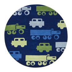 Trucks Contemporary Area Rug