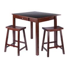Perrone High Table With Drop Leaf, Walnut