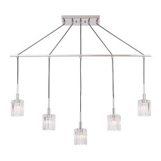 Woodbridge Lighting Candice Linear Pendant, Frosted Square