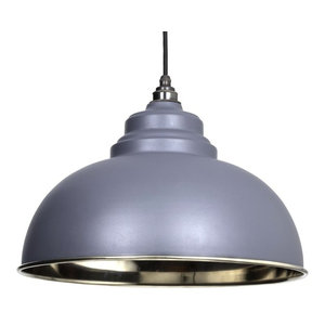 From The Anvil Harborne Pendant, Dark Grey Smooth Nickel