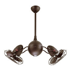 Acqua 1 Light 37 in. Outdoor Fan in Textured Bronze
