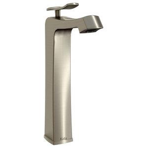 Umani Tall Single Hole Bathroom Faucet #BF1064, Brushed Nickel