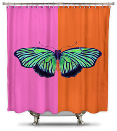 Catherine Holcombe Hal Color Block Fabric Shower Curtain Standard Size More Info