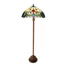 "Dulce 2-Light Victorian Floor Lamp 18"" Shade"