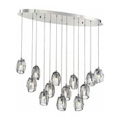 Eurofase Lighting 29090 Diffi 13 Light Linear Chandelier