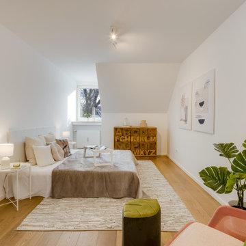 Dachgeschosswohnung Harlaching - Schlafzimmer