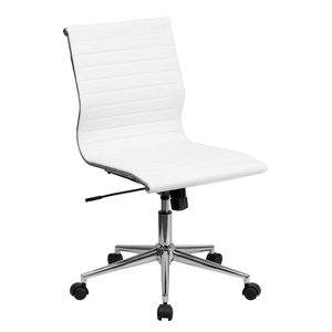 Bonded Leather Office Chair BT-9836M-2-WH-GG