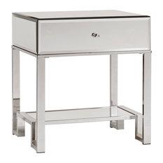 Eagan Mirrored Metal End Table Chrome