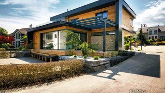 Puristische Flachdachhäuser KUBOS von Kampa