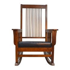Carolina Classic   Carolina Classics Montego Mission Rocker, Chestnut   Rocking  Chairs