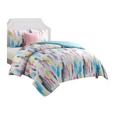 Nanshing America Percia 3-Piece Comforter Set, Waterblue, Twin/Twin XL