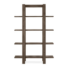 MOD - Tyler Dark Oak Contemporary Bookcase - Bookcases