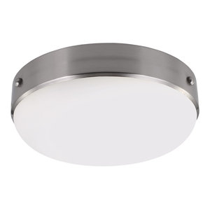 Cadence Contemporary Flush Ceiling Light, Silver