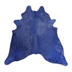 Chesterfield Leather Navy Dyed Large Brazilian Cowhide Novelty Rugs