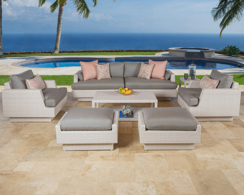 Portofino™ Comfort 7pc Deep Seating Set In Kona Taupe   Products