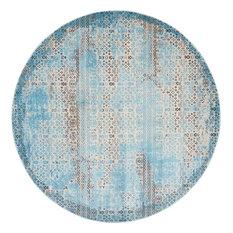 "Nourison Karma Area Rug, Blue, 7'10"" Round"
