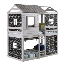 Campbell's Clubhouse Bunk Bed, With Green Camo Tent