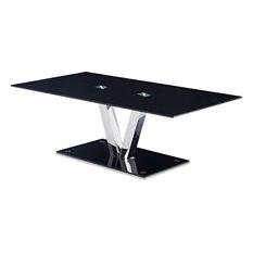 Global Furniture USA   Coffee Table, Black/Chrome   Coffee Tables