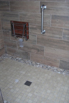 Can Wood Look Tile Planks Be Installed Horizontally On A Wall