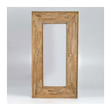 Barcelona Rectangular Mirror in Mango Wood