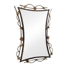 Handmade Wrought Iron Mirror, 80x80x100 cm