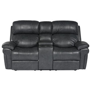 Reclining Loveseat with Power Headrest and Console