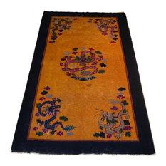 """Antique Chinese Peking Oriental Rug, 4'x6'8"""""""