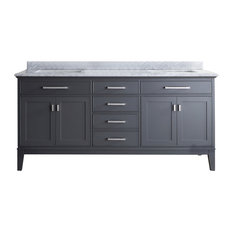 Lillian Double Vanity, Gray, 72""