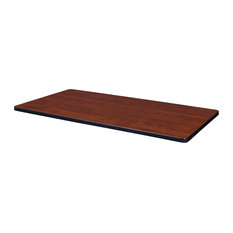 """42"""" x 24"""" Rectangle Laminate Table Top- Cherry/Maple"""