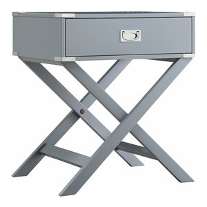 Alastair Wood Campaign Accent Table Nightstand